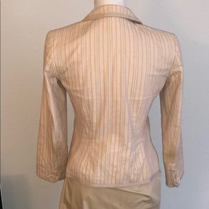 Express fitted blush pink blazer career jacket Oxs